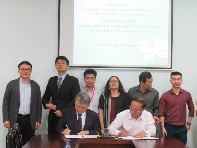 Trường Đại học Văn hóa TP. Hồ Chí Minh làm việc với Trường Đại học I-Shou, Đài Loan