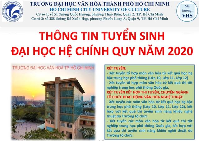 Trường Đại học Văn hóa TP. Hồ Chí Minh với công tác tuyển sinh năm 2020