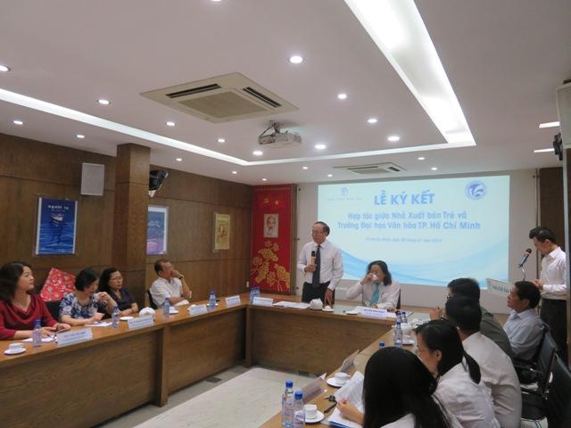 Lễ Ký kết Hợp tác giữa Trường Đại học Văn hóa TP. Hồ Chí Minh và Nhà Xuất bản Trẻ
