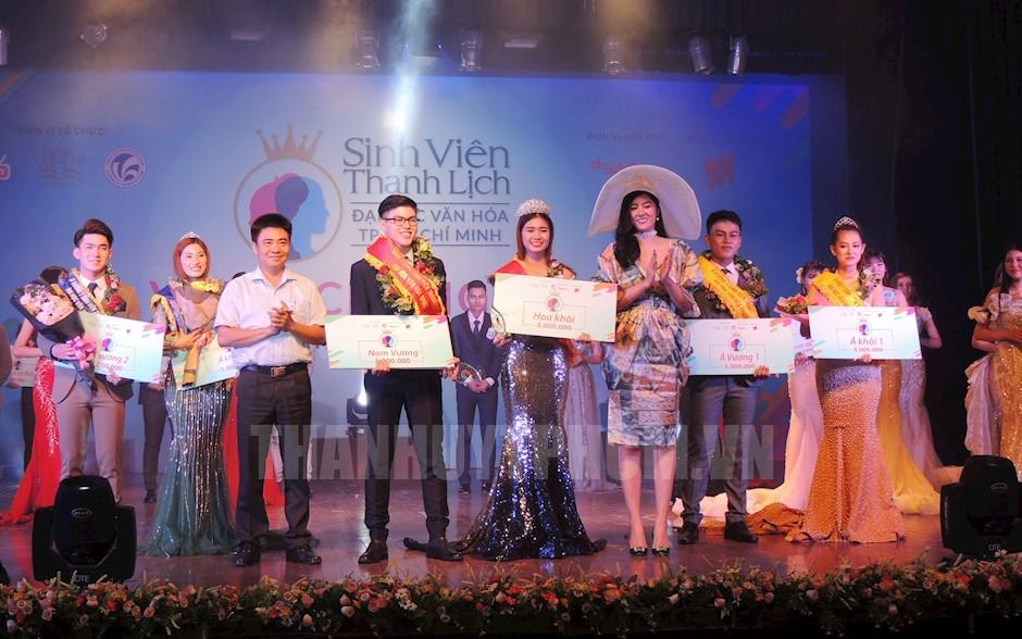 Tìm ra ngôi vị Hoa khôi và Nam vương cuộc thi sinh viên thanh lịch Trường Đại học Văn hóa TP.HCM