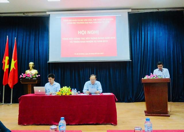 Hội nghị tổng kết công tác xây dựng Đảng năm 2018 và triển khai nhiệm vụ công tác năm 2019