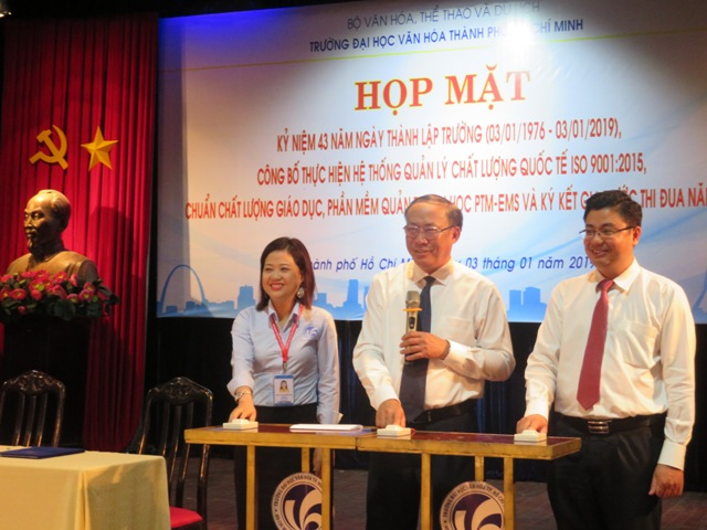 Họp mặt kỷ niệm 43 năm thành lập trường Đại học Văn hóa TP. Hồ Chí Minh (1976 – 2019)