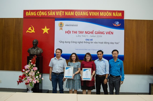 Công đoàn Trường Đại học Văn hóa TP. Hồ Chí Minh đạt giải nhất Hội thi tay nghề giảng viên