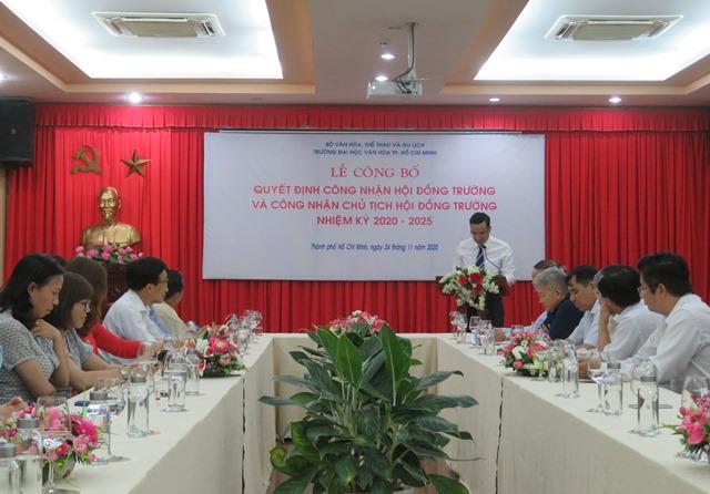 Công bố Hội đồng Trường Đại học Văn hóa TP. Hồ Chí Minh nhiệm kỳ 2020-2025