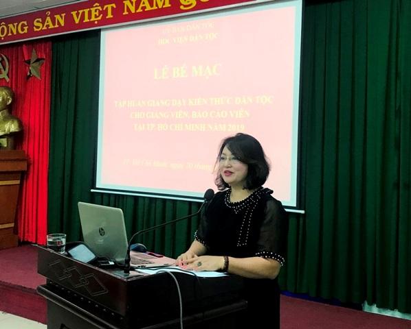 Bế mạc lớp tập huấn giảng dạy kiến thức dân tộc cho giảng viên,  báo cáo viên tại TP. Hồ Chí Minh năm 2019