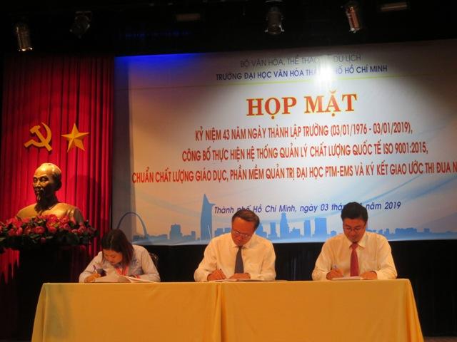 Trường Đại học Văn hóa TP. Hồ Chí Minh công bố thực hiện ISO 9001:2015