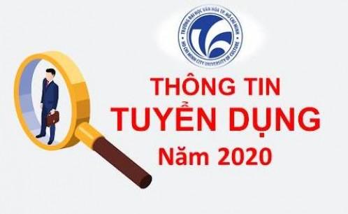Trường Đại học Văn hóa TP. Hồ Chí Minh thông báo tuyển dụng viên chức năm 2020