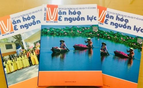 Tạp chí Văn hóa và Nguồn lực của Trường Đại học Văn hóa TP. Hồ Chí Minh  đạt tiêu chuẩn Danh mục tạp chí khoa học được tính điểm 2019.