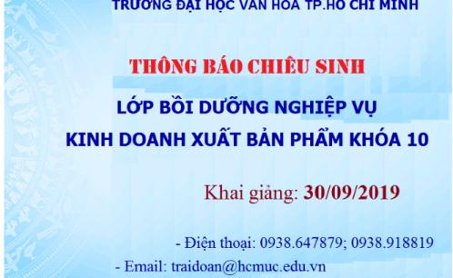 Chiêu sinh khóa học Bồi dưỡng nghiệp vụ kinh doanh xuất bản phẩm khóa 10
