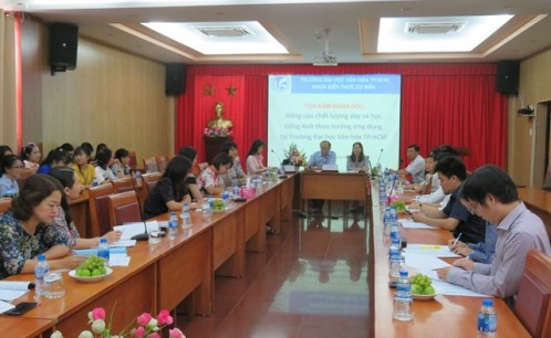 """Tọa đàm """"Nâng cao chất lượng dạy và học tiếng Anh theo hướng ứng dụng tại trường Đại học Văn hóa TP. Hồ Chí Minh"""""""