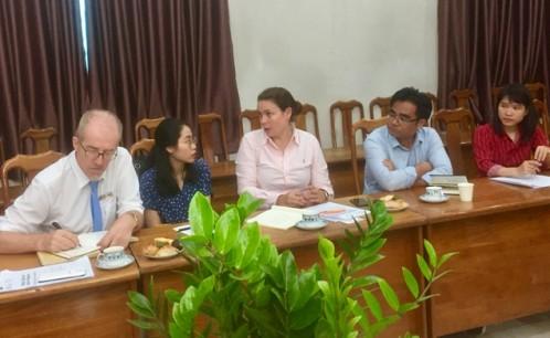 Đại diện Ban Giám hiệu, Phòng Đào tạo, Quản lý khoa học và Hợp tác Quốc tế, Khoa Di sản văn hóa Trường Đại học Văn hóa TP. Hồ Chí Minh đã làm việc với các đối tác về việc nghiên cứu phát triển dự án về di sản, bảo tang.