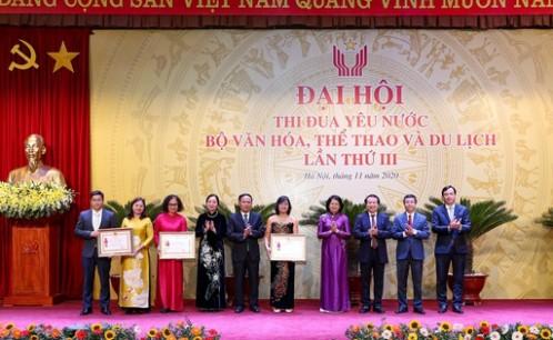 Đoàn đại biểu Trường Đại học Văn hóa TP. HCM tham dự Đại hội thi đua yêu nước Bộ Văn hóa, Thể thao và Du lịch lần thứ III, giai đoạn 2016-2020.