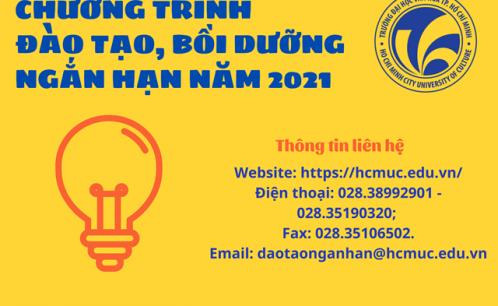 Chương trình đào tạo, bồi dưỡng ngắn hạn năm 2021
