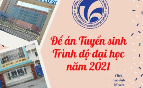 Đề án Tuyển sinh trình độ đại học năm 2021.